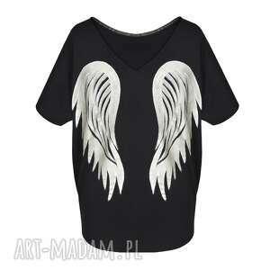 czarne bluzki skrzydła bluzka / black angel