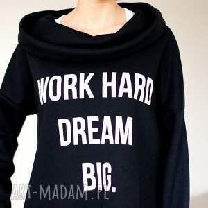 bluzy blogerska bluza z dłuższym tyłem