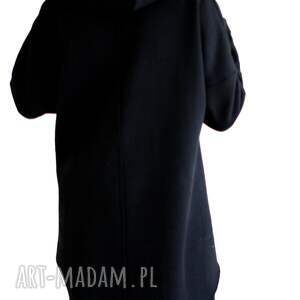 znapisem bluzy oryginalna czarna bluza z kapturem