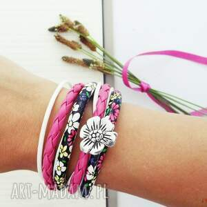 ręcznie robione bransoletki flower power
