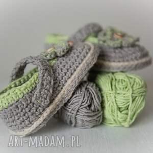 szare buciki handmade