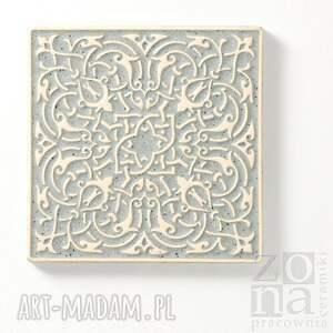 dekory ceramika kafle szare arabeski
