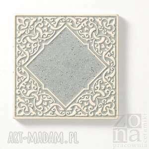 ceramika dekory kafle szare arabeski
