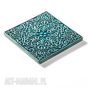 gustowne ceramika dekory kafle turkusowe arabeski zestaw i