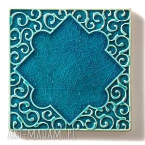 gustowne ceramika kafle turkusowe arabeski zestaw i