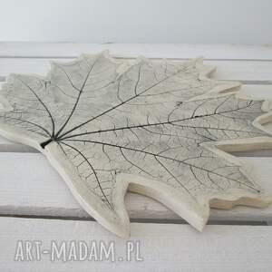 ceramika ceramiczna patera liść