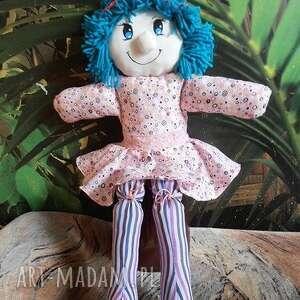 fioletowe dla dziecka szmacianka lalka przytulanka
