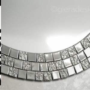 dom kryształowe lustro mozaikowe aurea