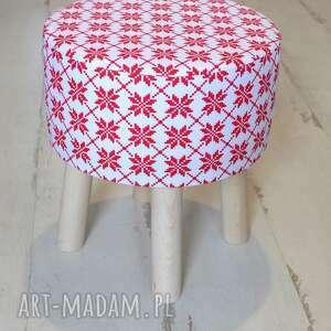 pomysł na upominek świąteczny święta stołek fjerne s (czerwone gwiazdki)