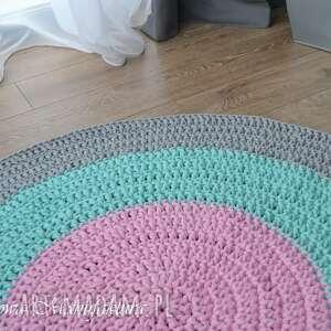 handmade dywany dywan bawełniany pastel 120cm ze