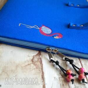 handmade etui filcowe / teczka - flaming