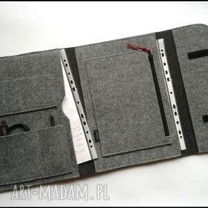 handmade etui organizer na dokumenty laptop