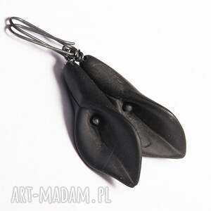 kolczyki kalla black stone