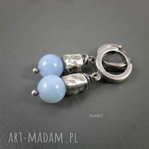 kolczyki z opalu niebieskiego