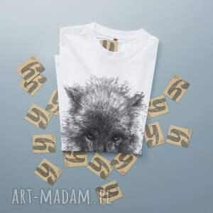 ręczne wykonanie koszulki tshirt wilk koszulka z nadrukiem