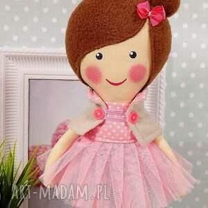 niepowtarzalne lalki lalka baletnica w pudrowych odcieniach