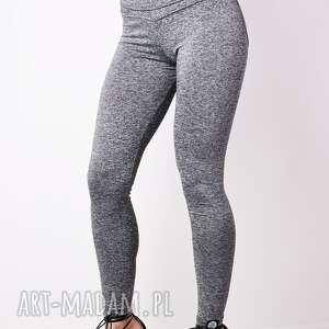 fajne legginsy elastyczne bawełniane szare