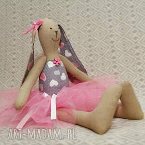 maskotki zając baletnica serduszko