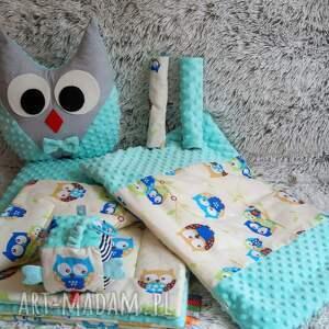 poduszka maskotki sówka szaro- miętowa