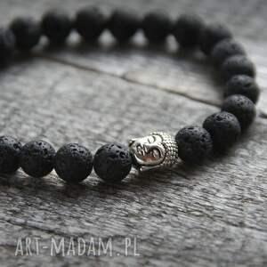ręcznie wykonane męska budda bransoletka :: buddha & black