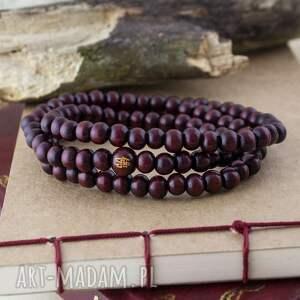 handmade męska bransoletka mala burgundy - unisex