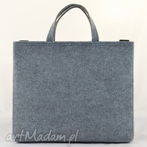 szary na laptopa duża szara filcowa torebka- torba