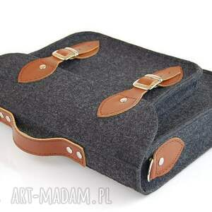 hand made na laptopa torba filcowa - personalizowana