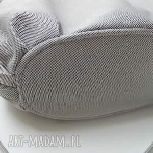 eleganckie na ramię nowoczesna hobo sack - sakiewka szara