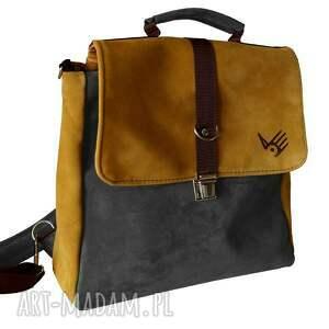 na ramię plecak plecak/teczka żółto-szara