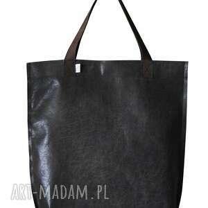 niebanalne na ramię torba mr. m vintage czarna skóra