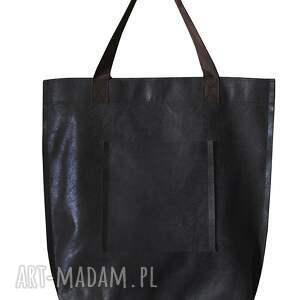 vintage na ramię torba mr. m czarna skóra