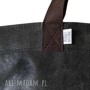 na ramię vintage torba mr. m czarna skóra