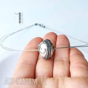naszyjniki naszyjnik bianco vii - z perłą