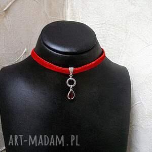 metal naszyjniki choker - red