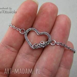 hand-made naszyjniki wire delikatny naszyjnik serce,