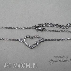 naszyjniki wrapping delikatny naszyjnik serce, wire