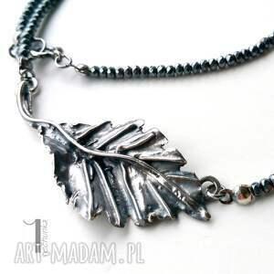 ręcznie wykonane naszyjniki srebro puch - srebrny naszyjnik