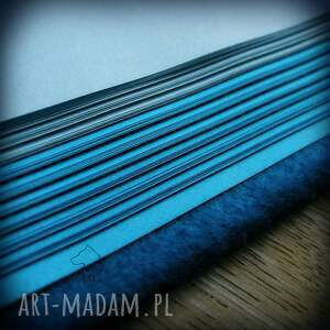 niebieskie notesy jednorożec notes a6 z filcową twardą okładką