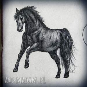 białe notesy koń notes a5 ze skórzaną miękką