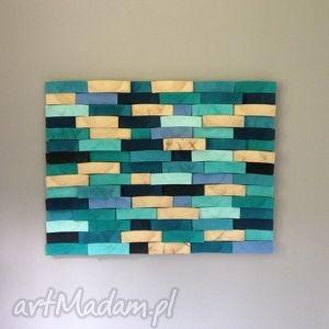 mozaika obrazy turkusowe drewniany obraz na zamówienie