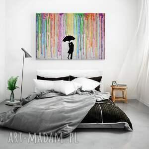 unikalne obrazy deszcz obraz na płótnie - kolory