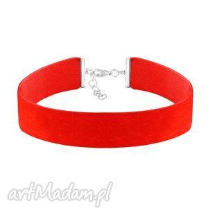 naszyjniki choker wide - red velvet, aksamit, biżuteria