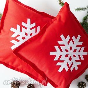 komplet poduszek śnieżynki, śnieżka, bożenarodzenie, święta, śnieżynka
