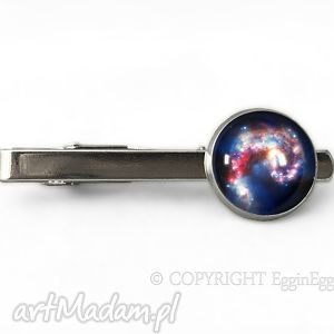 męska nebula - spinka do krawata, nebula, kosmos, galaxy, spinka, kosmiczna