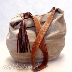 na ramię hobo, modnatorba, worek, dużatorba, szytatorba, handmade torebki
