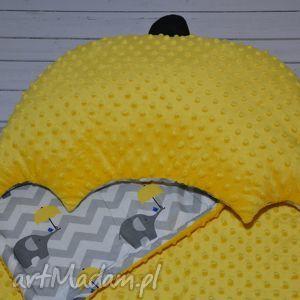 Pościel żółta parasolka, pościel, kocyk, kołderka, poduszka