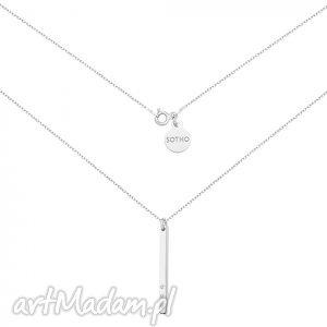 naszyjniki srebrny naszyjnik z blaszką i kryształkami swarovski crystal, srebro
