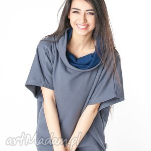 obszerna bluzka narzutka typu oversize, bawełna, dzianina, wiosna, eko bluzki
