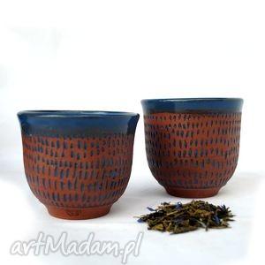 strugane 2szt - ceramiczne czarki, naczynia, ceramika, użytkowe, unikatowe