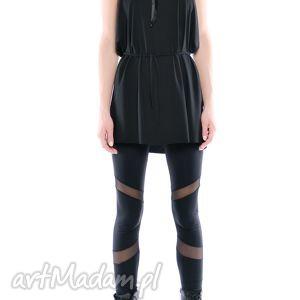 legginsy - futurystyczne mat, czarne, elastyczne, wygodne, święta prezenty